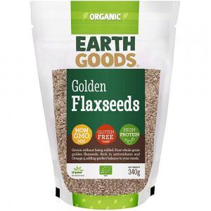 Earth Goods Organic Blond Flax Seeds, NON-GMO, Gluten-Free, High Protein 340g, 15505