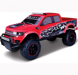 Maisto Tech R/C 1:6 2014 Ford F150 SVT Raptor 24GHz With Batteries & Charger Red - 81601