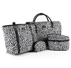 4in1 Okko Trolley Bag Color- Cheetah Print White Doted-36408