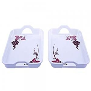 Flamingo BB0374FL  2 Pcs Melamine 15 Handle Tray Set