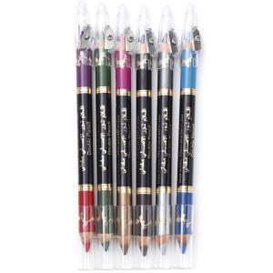 Miss Beauty Eye Shadow Pencil Eye Liner Set 2 in1, 6 pcs 12 kind of color YD30239