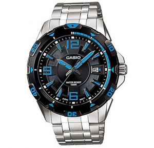 Casio Analog Watch For Men, Silver Stainless Steel Band-MTD-1065D-1A