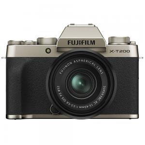 Fujifilm X-T200 Mirrorless Camera With XC 15-45 mm Lens Kit, Champagne Gold