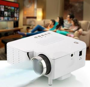 BSNL A8 Mini Projector, HDMI, AV, USB, SD Card Slot white