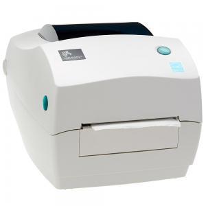 Zebra GC420T Monochrome Desktop Direct Thermal Transfer Label Printer, White