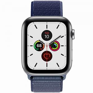RockRose Caveman Nylon Weave Apple Watch Band For Apple Watch 42/44mm, RRBAWCBL, Blue Marguerite
