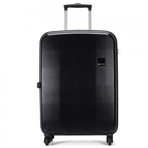 Carlton Pixel 79cm, 4 Wheel Spinner Large Size Trolley Hard Case, PIXEL79BK, Black