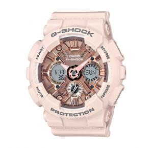 Casio G-Shock Analog-Digital Rose Gold Dial Womens Watch-GMA-S120MF-4ADR