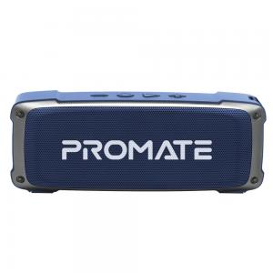 Promate Bluetooth Speaker Premium 6W HD Rugged Wireless Speaker with 4H Playtime Built in Mic FM Radio 3.5mm Aux Port TF Card Slot and USB Media Port, OutBeat Blue