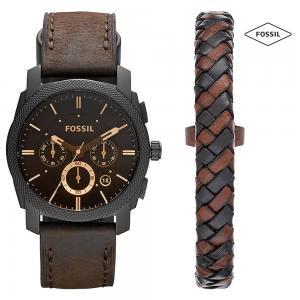 Fossil SP/FS5251SET Chronograph Watch For Men With Bracelet, Black
