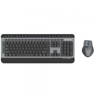 Promate 2.4Ghz Wireless Keyboard and 1600 DPI Mouse Combo with Nano USB Receiver, ProCombo-9 A/ E