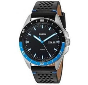 Fossil Analog Leather Casual Watch For Men - FS5321