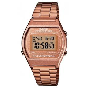 Casio Digital Watch For Women,  Rose Gold Stainless Steel-B-640WC-5A