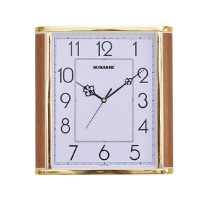 Sonashi Wall Clock 26.5cm x 28.5cm Wood White, SWC-806