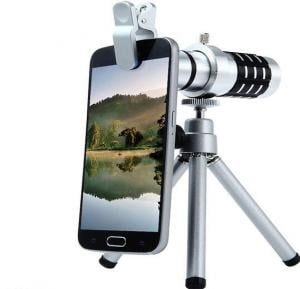 Z Tech 12X Mobile Phone Camera Clip-on Monocular Long Fixed Focus Telescope Lens