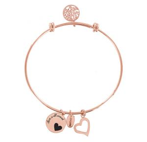 Coco88 Womens Stainless Steel Bangle ,8CB-11001 ROSE