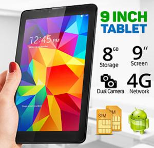 BSNL A18 Tablet, 9 inch Display, Android 4.4, 8GB Storage, 2GB RAM, WiFi, Bluetooth, Dual SIM, Dual Camera - Black