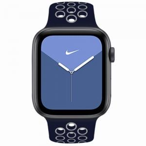 RockRose Starry Night Silicone Apple Watch Band for Apple Watch 42/44mm, RRBAWSNBL, Midnight Blue White