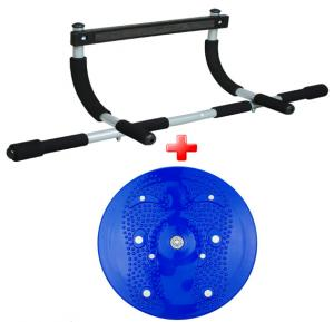 2 in 1 Professional in house workout kit, Iron gym Pushup bar plus Waist Trimming Rotating disc