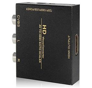 AV To HDMI Auto Scaler Full HD 1080P Video Converter (Black)