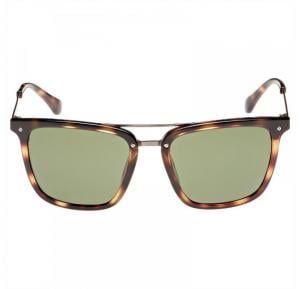 Calvin Klein Square Brown Frame & Green Mirrored Sunglasses For Unisex - CK1214S-214