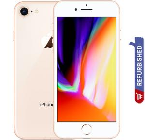 Apple iPhone 8, 2GB RAM, 64GB Storage, 4G LTE, Gold, Refurbished