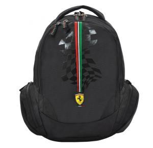 Ferrari Silver Horse Black Backpack 18 Bp - SLSH0701
