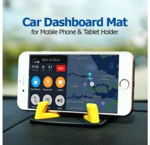 Universal Multi-Color Anti Skid Washable Car Dashboard Desktop Mat Mobile Phone & Tablet Holder