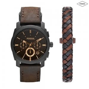 Fossil Chronograph Black Dial Mens Watch, FS5251SET