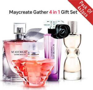 2 in 1 Maycreate Gather Beauty EDP Perfume Gift Set for Ladies, 25ml x 2 BOX, JM40