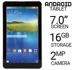 BSNL A33 4G Tablet, 7 Inch Display, Android OS, 2GB RAM, 16GB Storage, Wi-Fi, Quad Core, Dual Camera, Dual SIM - Gold