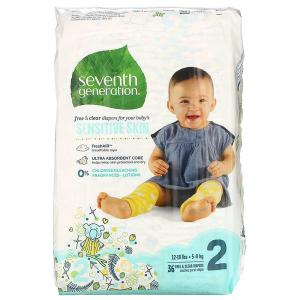 Seventh Generation Baby Diapers Stage 2 (12-18lbs) 36pc