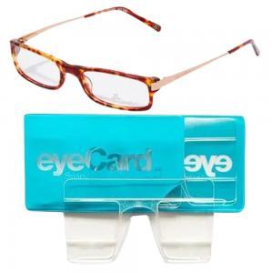2 In 1 EyeCard Reading Glasses 2.5 Credit Card Size And Jacques Lemans Womens Rectangular Eyeglasses Frame, JLF 1-0023 C