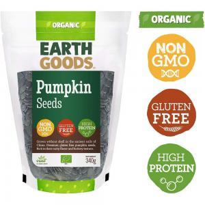 Earth Goods Organic Pumpkin Seeds, NON-GMO, Gluten-Free, High Protein 340g, 15501