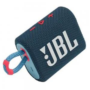 JBL GO3 Portable Bluetooth Speaker Blue with Pink