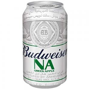 Budweiser Apple Flavour Non Alcoholic Malt Beverage 355ml Can 53002