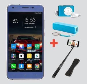Astarry Sun 3 Smartphone,4G,Android OS,5 Inch HD Display,3GB RAM,32GB Storage,Dual SIM,Dual Camera-Blue&Get MP3 Player,Selfie Stick,Powerbank &grip Free!