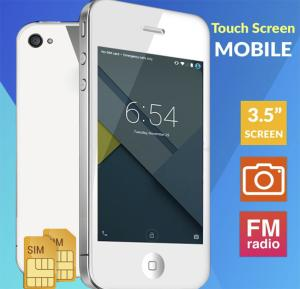 F8 Touch Screen Dual Sim Smartphone, 3.5 Inch White