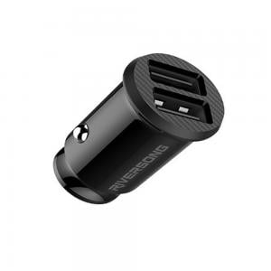 Riversong Safari S4 Metal Car Charger With Lightning Cable, Black