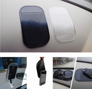 ZE Multi Color Anti-Slip Car Dashboard Silica Gel Magic Sticky Pad Holder for Mobiles, Keys, And Other Accessories
