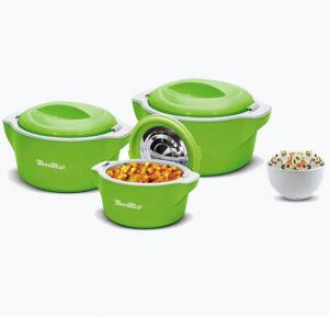 Meenumix Plaza Casserole 3Pcs Set.1000/2000/3000 ML, PL3PCR
