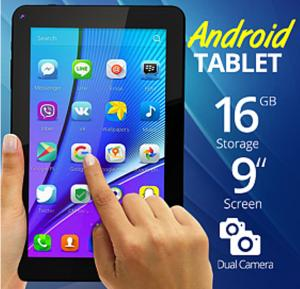 BSNL B29 Tablet, 9 inch Display, Android 4.4, 16GB Storage, 2GB RAM, WiFi, Dual Core, Dual Camera - Black
