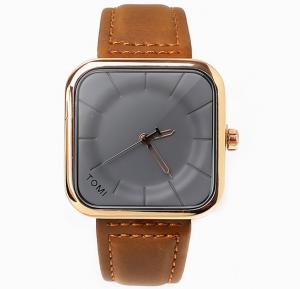 Tomi Brown & Gold T093 Unisex Analog Watch for Men & Women