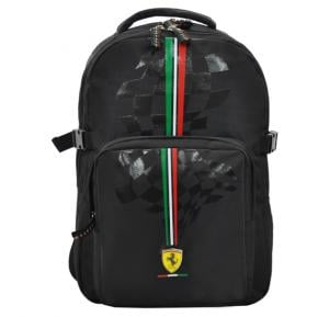 Ferrari Silver Horse Black Backpack 17 Bp - SLSH0703