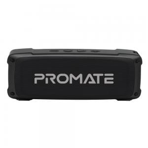 Promate Bluetooth Speaker Premium 6W HD Rugged Wireless Speaker with 4H Playtime Built in Mic FM Radio 3.5mm Aux Port TF Card Slot and USB Media Port, OutBeat Black