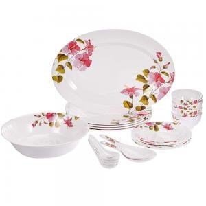 Flamingo Melamine Ware 20 Pcs Dinner Set With Dinner Plate FL9305MWST