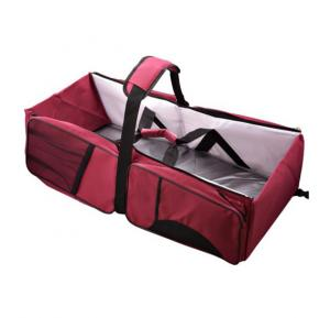 Baby Travel Bag for Unisex, Wine Red