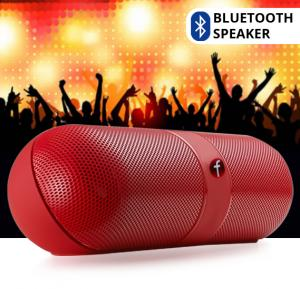 FIVESTAR F-808 Pill Design Multi-Function HiFi Bluetooth Speaker with MIC Support - Red