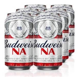 Budweiser Classic Flavour Non Alcoholic Malt Beverage 355ml Pack Of 6 Can 53001.501