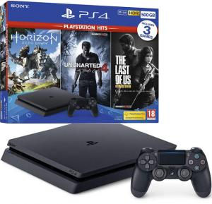 Playstation 4 Slim Console 500GB 3 Game Bundle